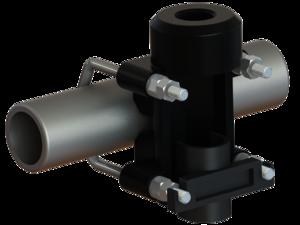 "Heavy duty Diecast Aluminium Pole Bracket (1""-14NF) - Ø 38-60 mm"