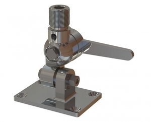 """Deck mount, 4-way heavy-duty chrome plated solid brass (1""""-14NF)"""