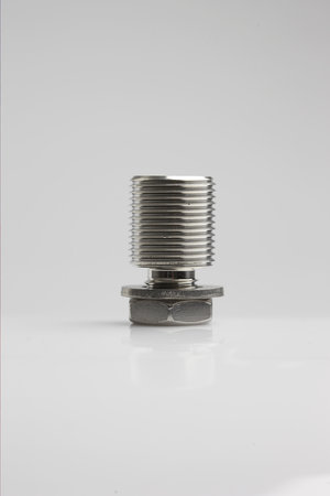 "Mount 1""14 stainless steel with nut and wash"