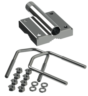 "Stainless Steel mast/Rail mounting bracket 1""-14NF for rail Ø 25-50 mm"