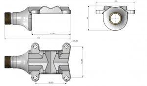 Solid brass heavy duty pole bracket