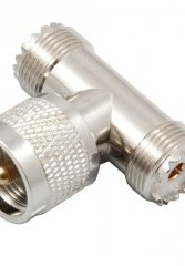 Coaxcont. UHF T-koppling hona-hane-hona